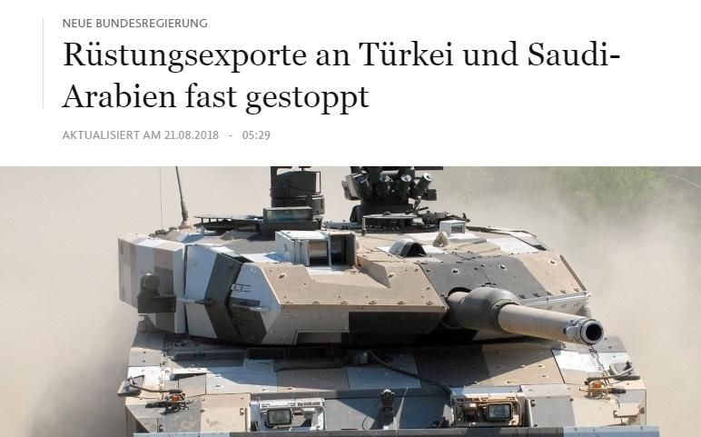 Exportstopp im Koalitionsvertrag, na und? Rüstungsexporte gehen weiter
