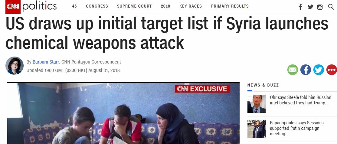 """Syrien – CNN bestätigt """"russische Propaganda"""": USA planen Militärschlag für Giftgas-"""