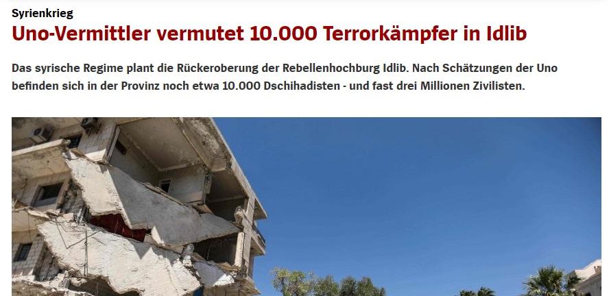 Deutsche Medien berichten mit fast einer Woche Verspätung über Syrien