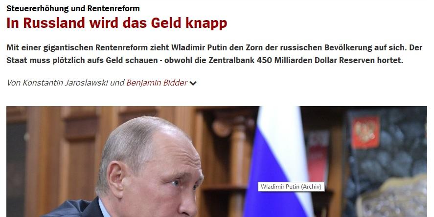 Trotz aller Hoffnungen des Westens – Russland wird das Geld nicht knapp, im Gegenteil