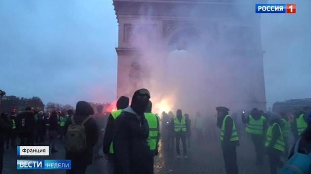 Das russische Fernsehen über Gelbwesten und die Verschärfung des Versammlungsrechts in Frankreich
