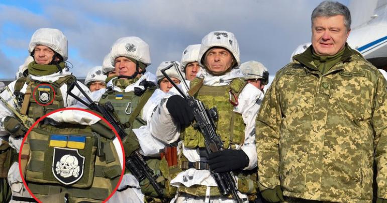 Bilder, die wir in den Medien nicht gezeigt bekommen: Poroschenko und die SS-Symbole in seiner Armee