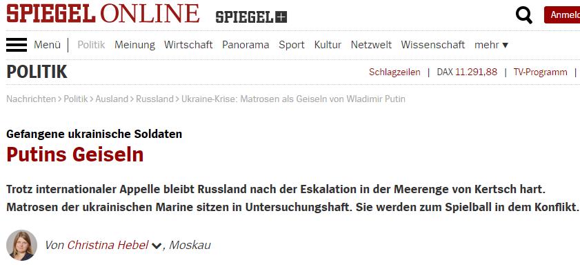 """""""Putins Geiseln""""? – Propaganda im Spiegel zum Vorfall von Kertsch"""