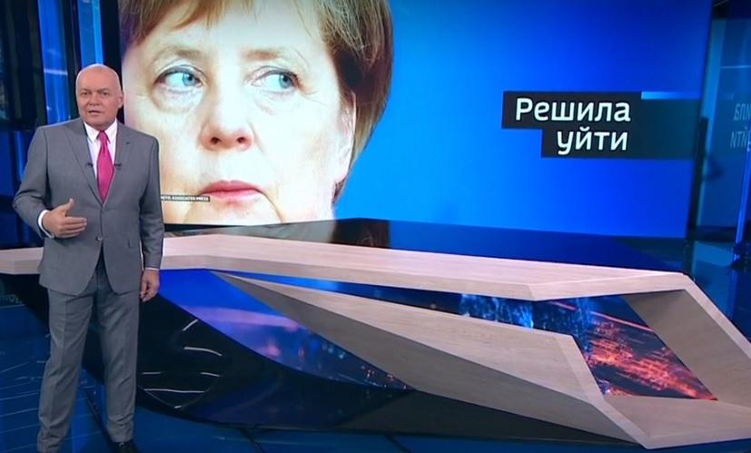 Die Sicht der Anderen: Das russische Fernsehen rechnet mit der Ära Merkel ab – eine bittere Bilanz