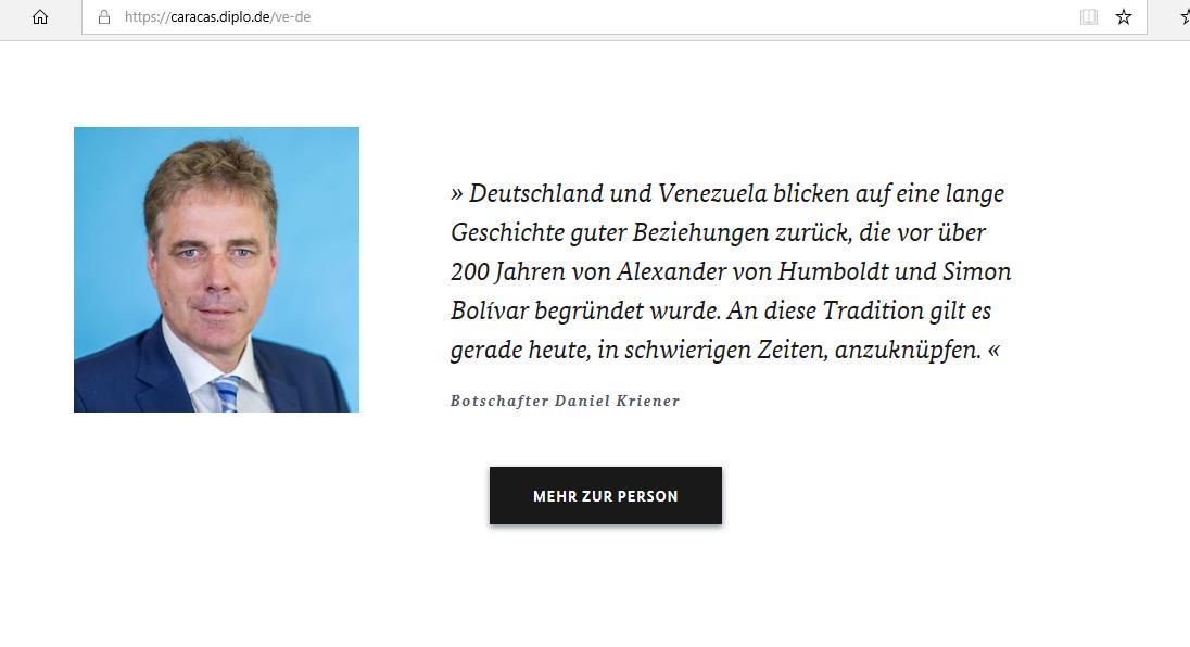 Deutscher Botschafter in Venezuela wurde zur Persona non grata erklärt