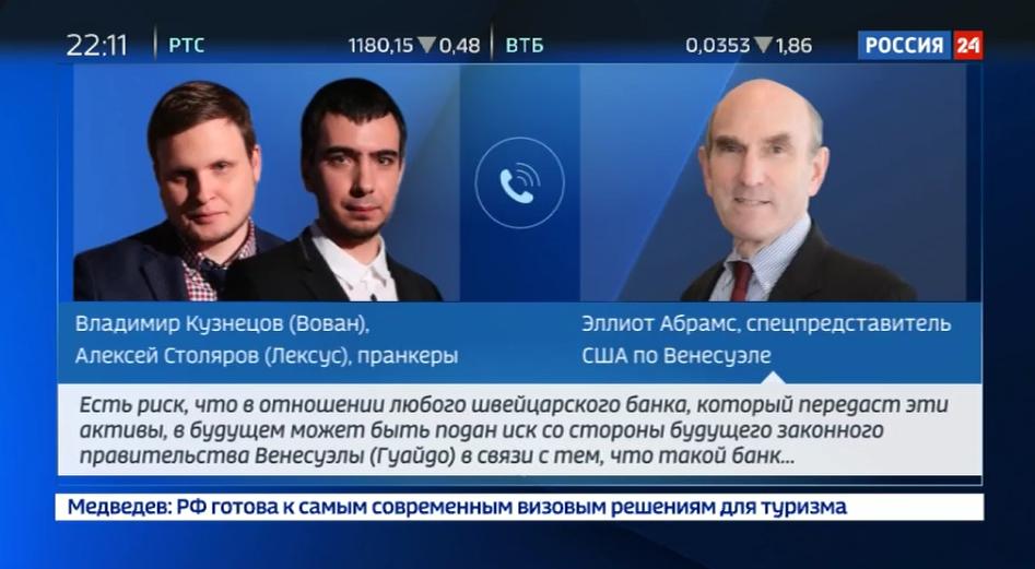 Telefonstreich: Russische Pranker täuschen US-Beauftragten für Venezuela, der mit ihnen offen über US-Pläne spricht