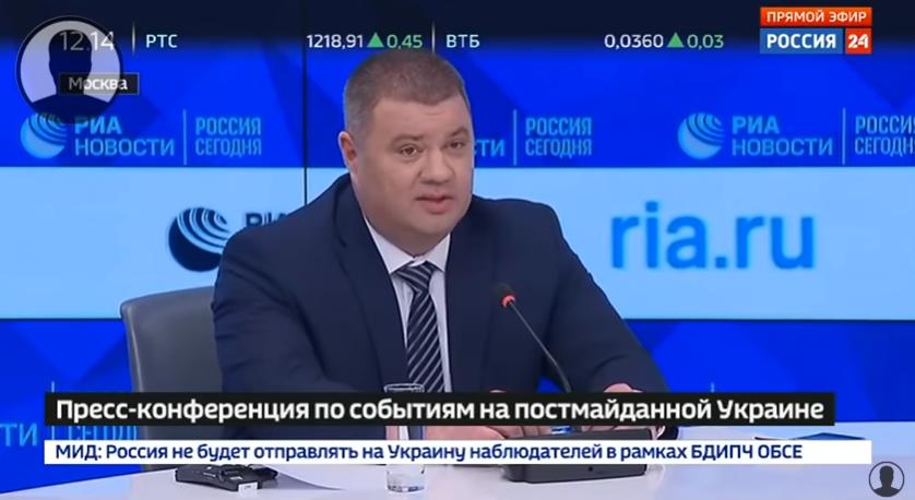 Pressekonferenz: Nach Russland übergelaufener ukrainischer Geheimdienst-Offizier über Verbrechen in der Ukraine