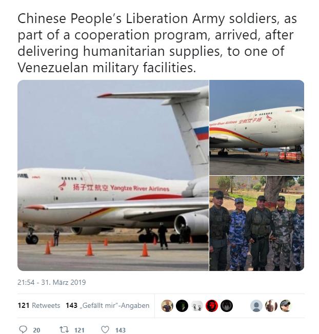 Hat China Soldaten nach Venezuela geschickt?