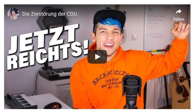 Schon 4 Mio. Klicks: Junger YouTuber hält CDU und SPD vor der Europawahl den Spiegel vor