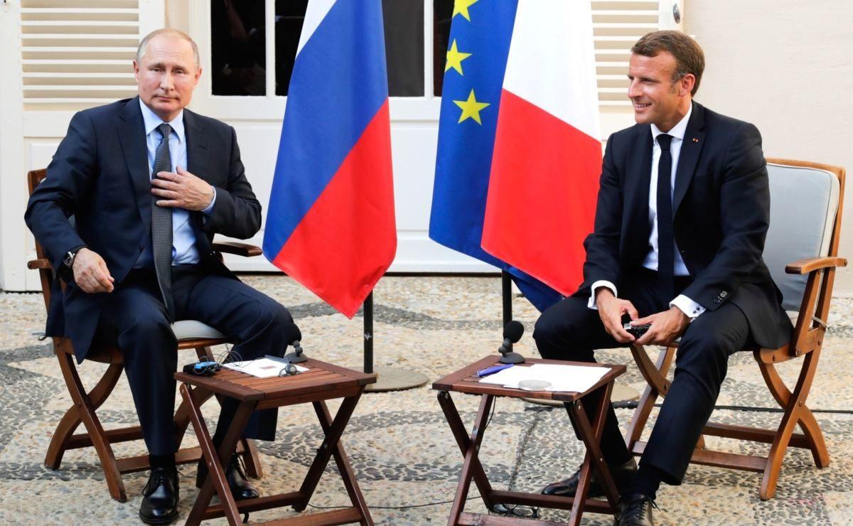 Putins Antwort im O-Ton: Beim Frankreich-Besuch befragt Journalistin Putin zu den Protesten in Moskau