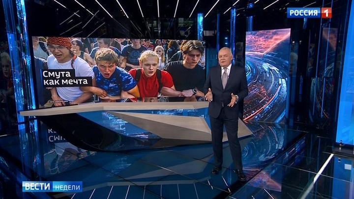 Das russische Fernsehen über die Demonstrationen in Moskau der letzten Wochen
