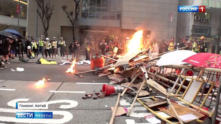 Das russische Fernsehen über die Proteste in Hongkong und Parallelen zum Maidan