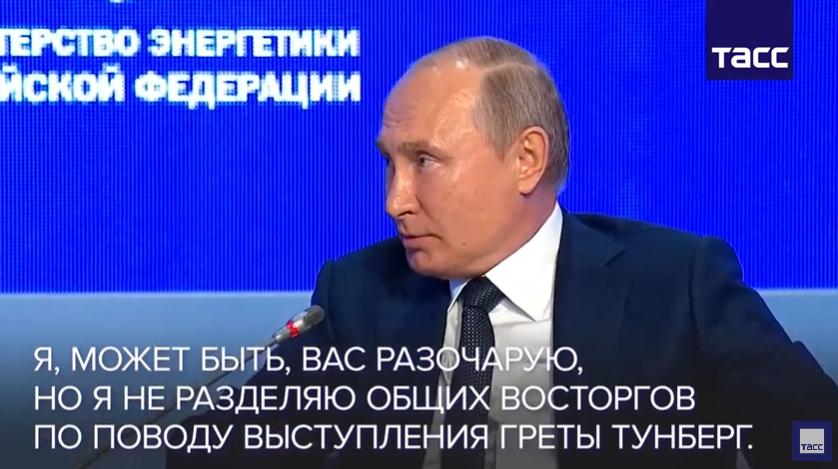 Putin im O-Ton über Greta Thunberg
