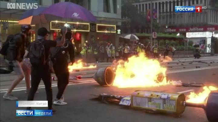 Das russische Fernsehen über Proteste in Hongkong, Moskau und im Westen