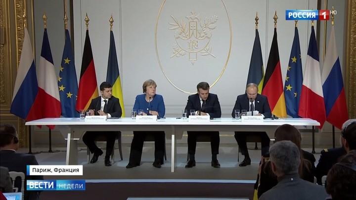 Wie das russische Fernsehen das Treffen im Normandie-Format einschätzt