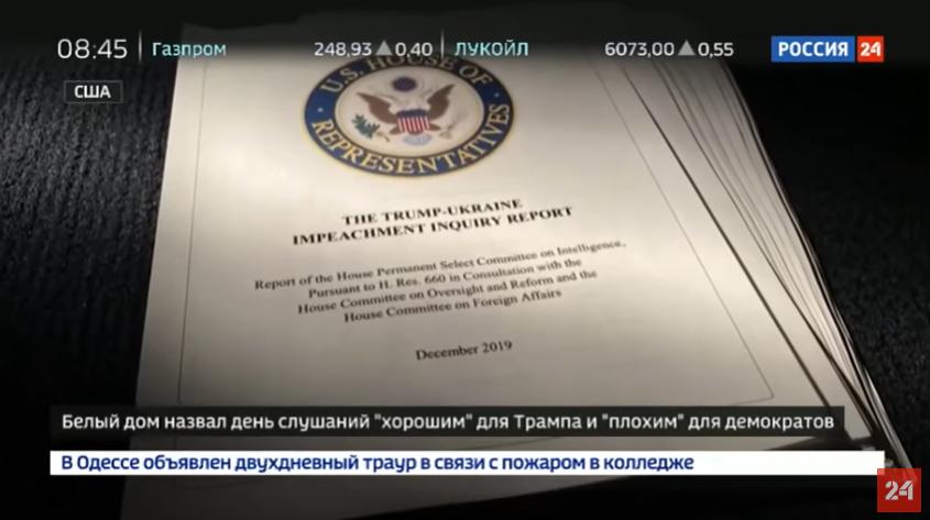 Wie das russische Fernsehen über Anhörungen im US-Kongress berichtet