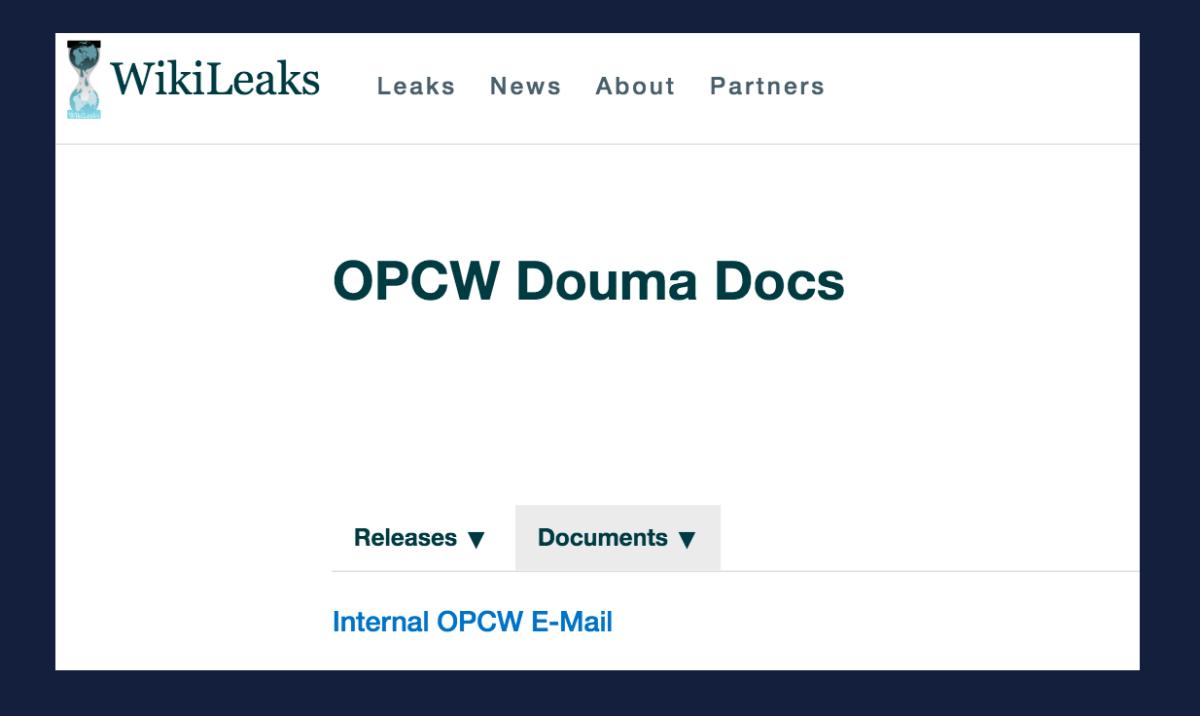 Angeblicher Giftgas-Angriff in Duma: Neue Dokumente zeigen weitere Fälschungen im OPCW-Bericht auf