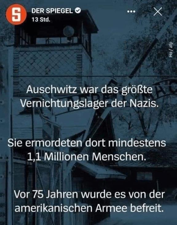 """Geschichtsfälschung oder """"peinlicher Fehler""""? Laut Spiegel haben die USA Auschwitz befreit"""