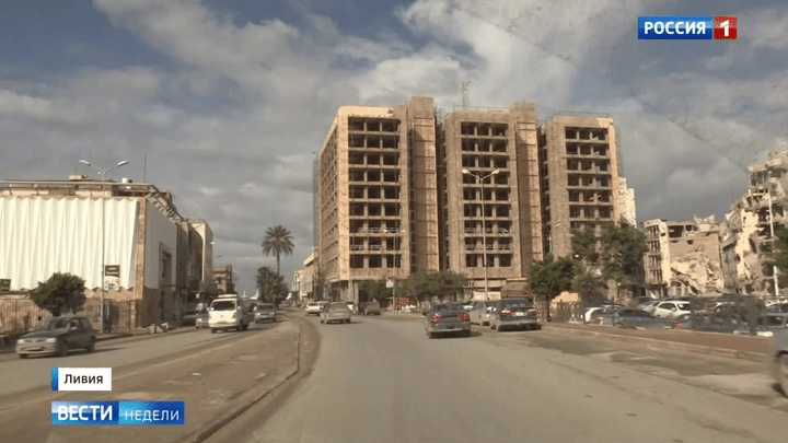 Korrespondentenbericht des russischen Fernsehens aus Libyen