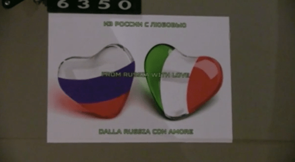 Das russische Außenministerium über die humanitäre Hilfe für Italien