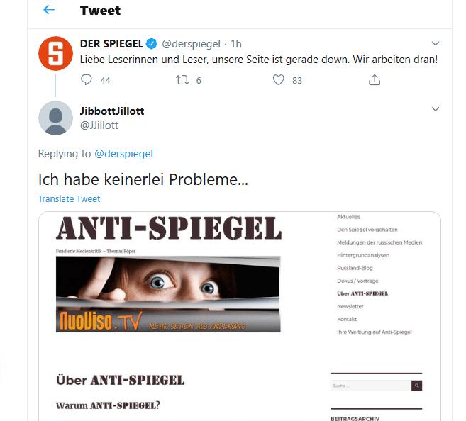 Internetseite des Spiegel offline – Die Reaktionen auf Twitter sind bemerkenswert