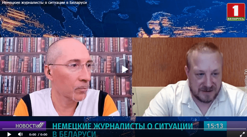 Im weißrussischen Fernsehen wird Tacheles gesprochen