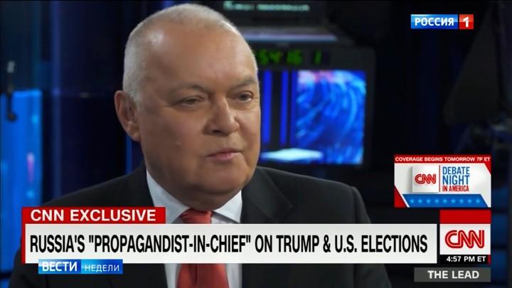 CNN interviewt Chef des russischen Fernsehens und schneidet den entscheidenden Satz raus
