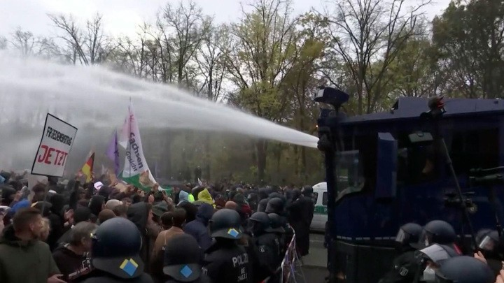 Wie in Russland über die Demonstration in Berlin berichtet wurde