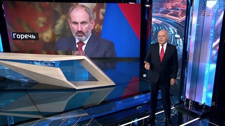 """""""Putins Erfolg"""" – Das russische Fernsehen über das Ende des Krieges in Bergkarabach"""