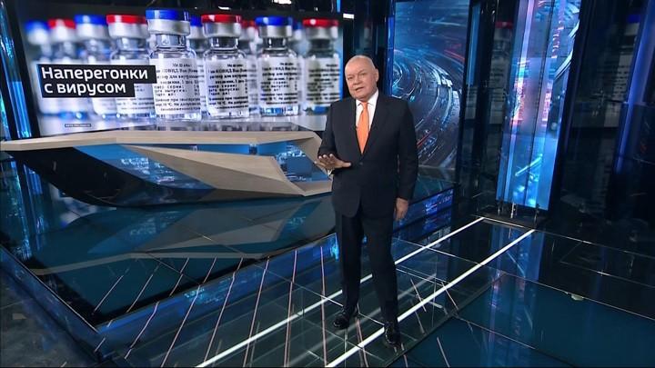 Das russische Fernsehen über die Impfstoffe von Astra-Zeneca und Biontech/Pfizer
