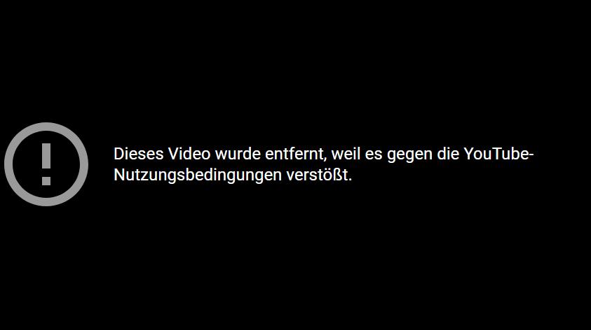 YouTube hat die aktuelle Tacheles-Sendung zensiert, hier ist sie trotzdem zu sehen