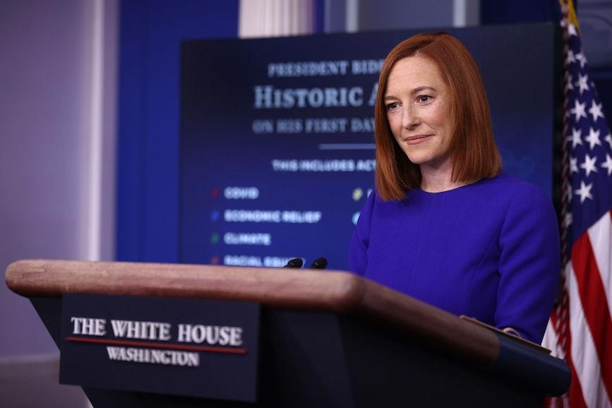Jen Psaki: Sprecherin von Präsident Biden weiß nicht, was die US-Weltraumstreitkräfte sind